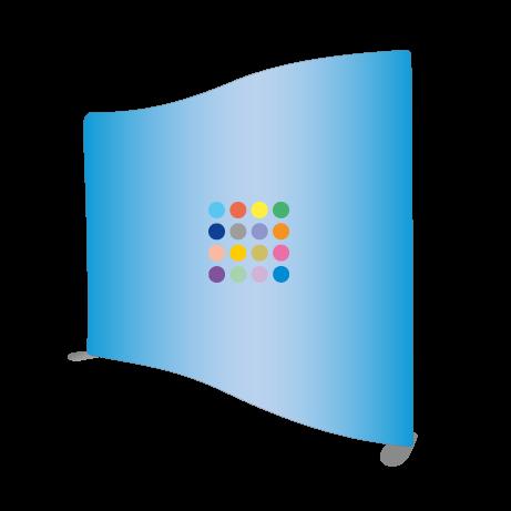 Messewand - Textilwand ECO wellenförmig